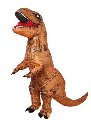 Opblaasbaar T-rex kostuum dino pak bruin Jurassic World™