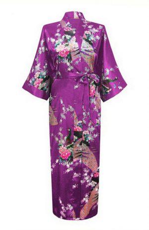 Paarse Japanse Kimono Yukata