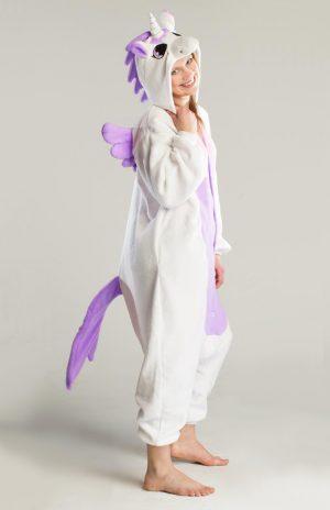 Paarse pegasus unicorn eenhoorn kinder onesie pak kostuum