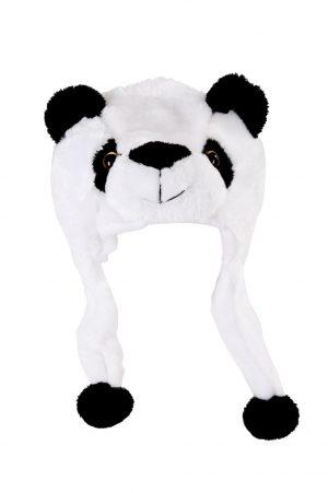Panda muts met flappen