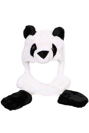 Panda muts met wanten