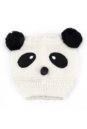 Gebreide Panda muts