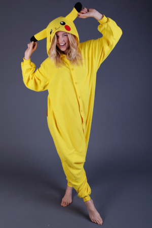 Pikachu Pokemon onesie pak kostuum