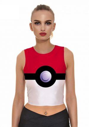Pokeball crop top Pokemon