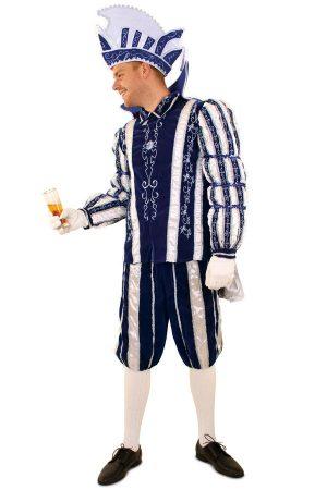 Prins Carnaval kostuum blauw