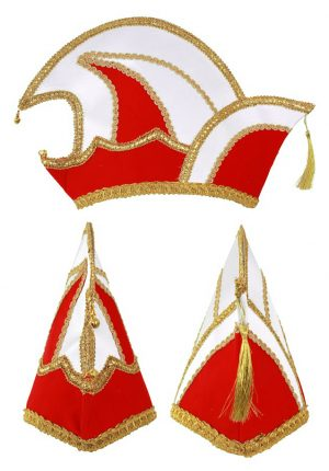 Prins Carnaval steek muts rood fluweel