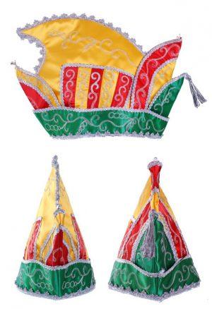 Prins Carnaval steek muts rood geel groen