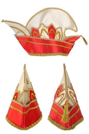 Prins Carnaval steek muts rood goud