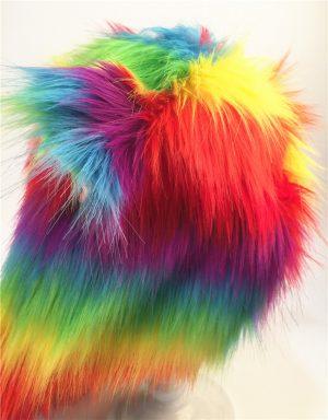 Regenboog wolf hood muts wanten oortjes