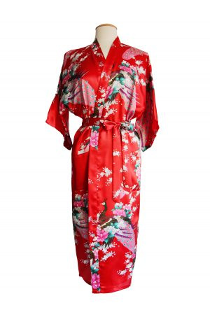 Rode Japanse Kimono Yukata