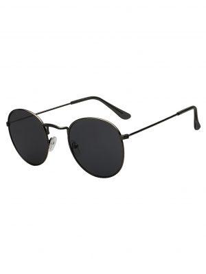 Ronde zonnebril round metal gunmetal antraciet