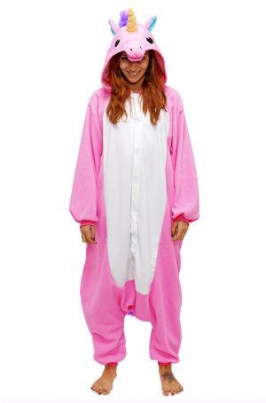 Roze Eenhoorn Unicorn onesie pak kostuum