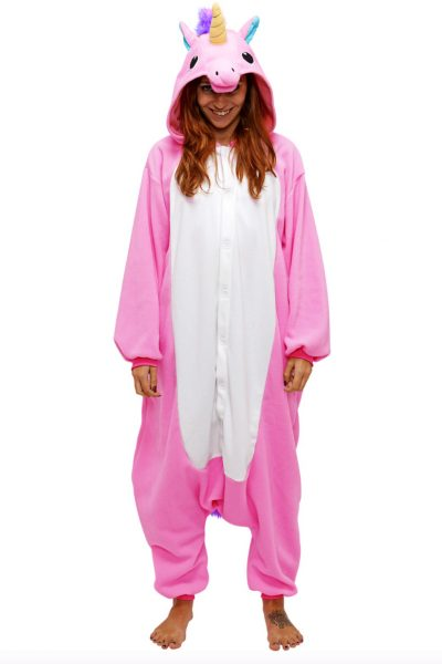 Roze Eenhoorn kinder onesie