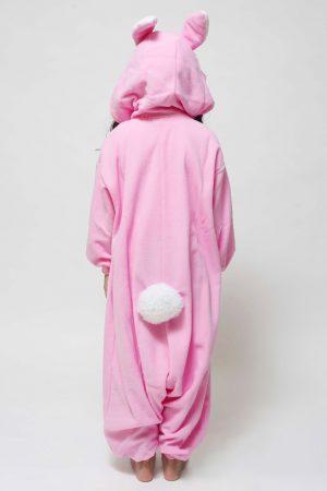 Roze Konijn kinder onesie