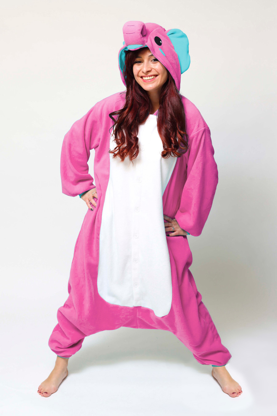 10a3ad322e28 Buy your Pink Elephant kids onesie now! - PartyinyourAnimal.com