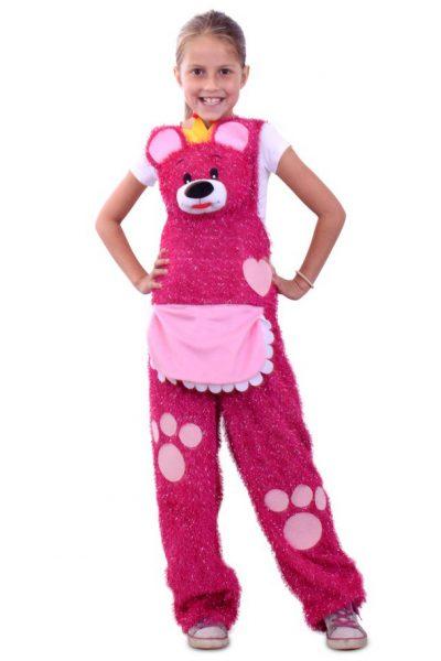 Roze knuffelbeer broek kids