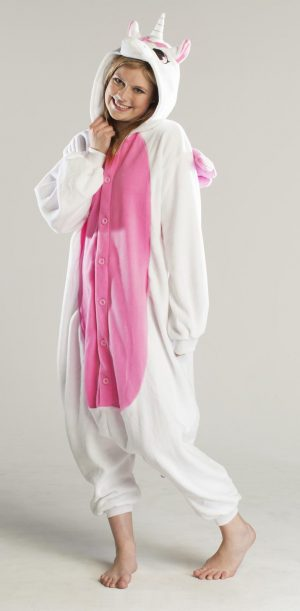 Roze pegasus unicorn eenhoorn kinder onesie pak kostuum