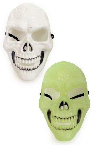 Skull skelet masker wit-glow
