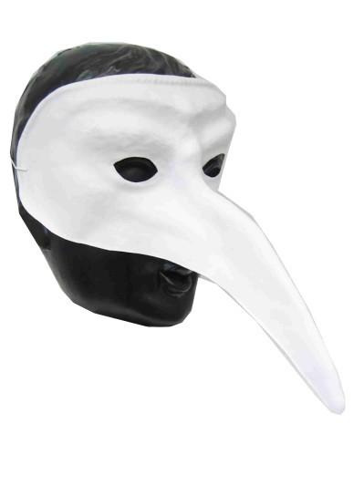 Snavelmasker Venetie plastic wit