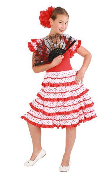 Spaanse Flamenco jurk kids