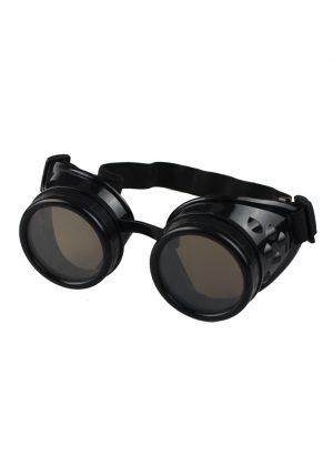 Steampunk bril goggles zwart zonnebril