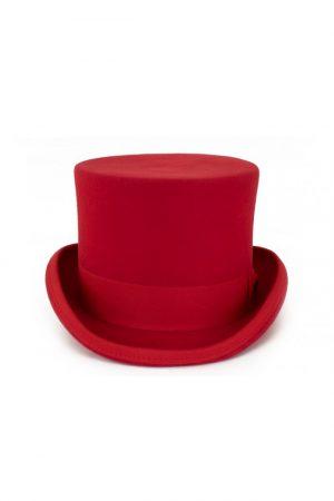 Steampunk hoge hoed rood tophat