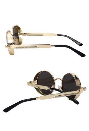 Steampunk ronde zonnebril