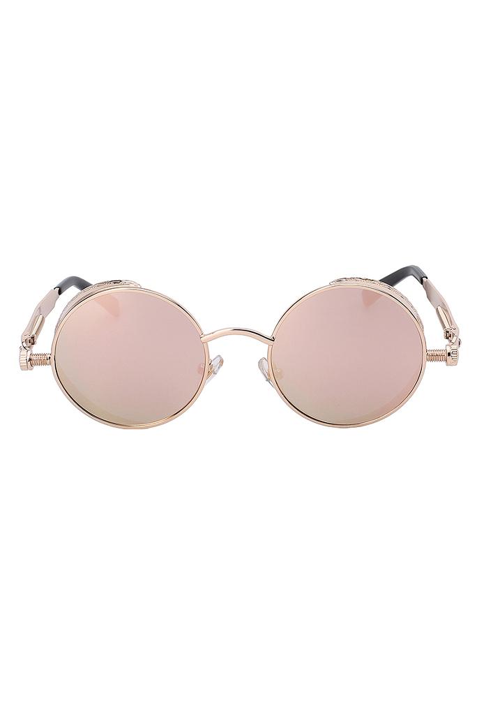 b8677782bbfd69 Steampunk ronde zonnebril rosé goud kopen  €13