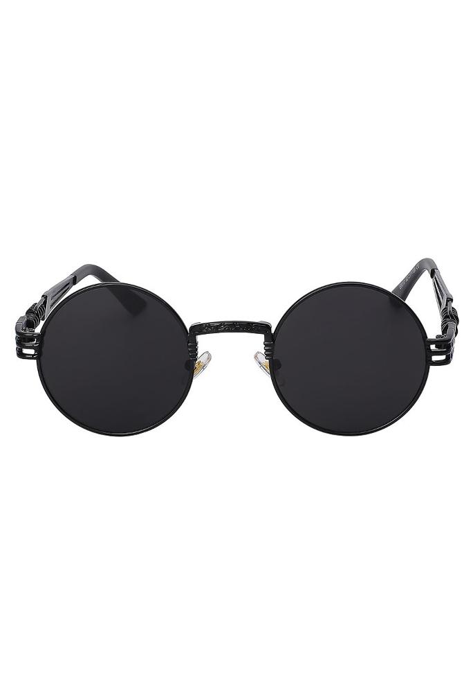 Zonnebril Met Ronde Glazen.Zonnebril Rond Zwart Steampunk Heren