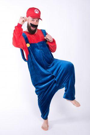 Super Mario onesie kostuum pak