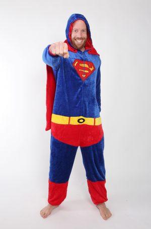 Superman onesie kostuum pak