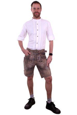 Tiroler blouse wit