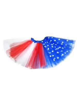 Tutu amerikaanse vlag sterretjes rood blauw