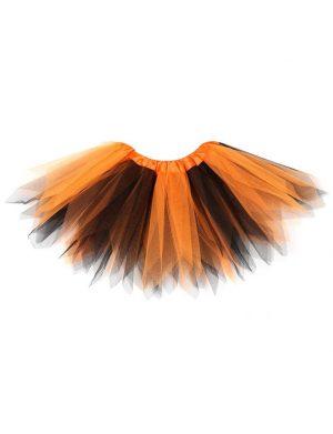 Tutu tule rokje oranje zwart heks