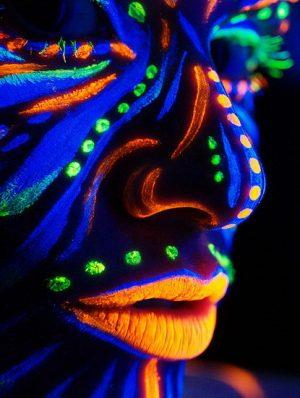 UV neon schmink fluor