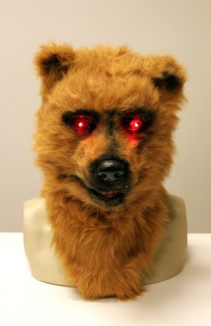 Volkop masker grizzly beer lichtgevende ogen bewegende mond