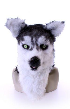 Volkop masker husky wolf lichtgevende ogen bewegende mond