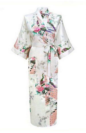 Witte Japanse Kimono Yukata