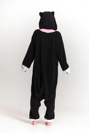 Zwarte Kat kinder onesie