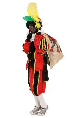 Zwarte Piet kinder pak rood kostuum