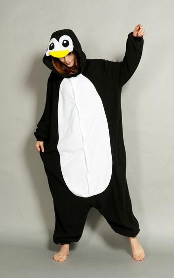 Zwarte Pinguin onesie