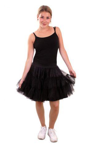 Zwarte petticoat soft