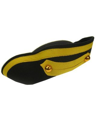 Zwarte piraten driesteek kinder hoed