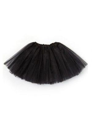Dunne zwarte tutu petticoat tulerok